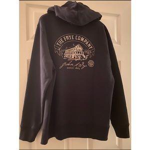 Frye Zip Hoodie NWT, Jet Black, Large, Retail $128